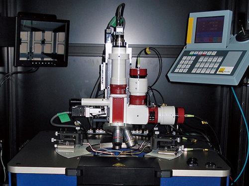 ウエハレベル受光素子光学特性測定解析装置