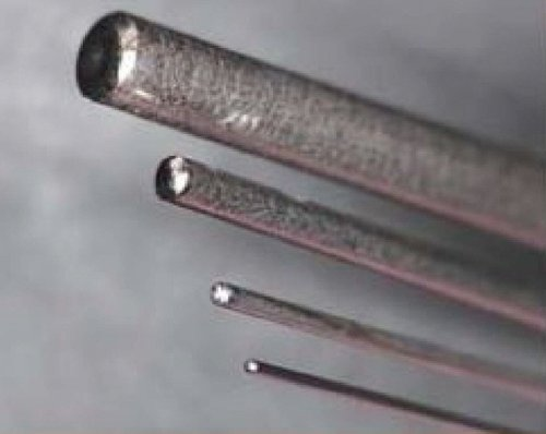 極細線のレーザー加工による先端丸め・溶接