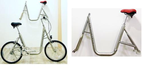 自転車フレーム(ステンレス 2重管)