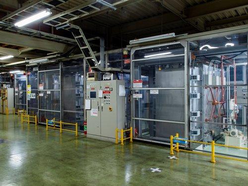 フッ素ガス表面処理設備