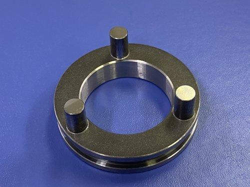 熱間鍛造から冷間鍛造へ工法変更し切削工数削減