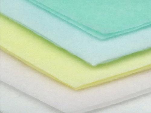 コスメ用の淡色カラー品(パルプエアレイド不織布)