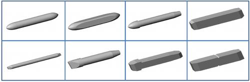 繊維芯・プラスチック芯の研磨加工例